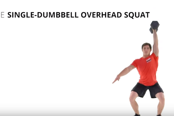 The Single-Dumbbell Overhead Squat